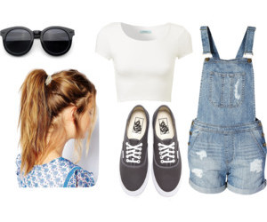 glasses, outfit, and summer image