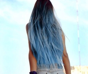 beuatiful, blue, and hair image