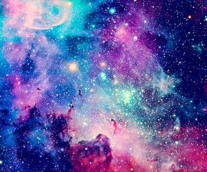 blue, galaxy, and skys image