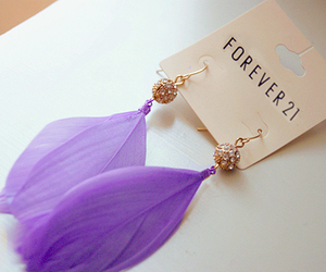 earrings, forever 21, and purple image