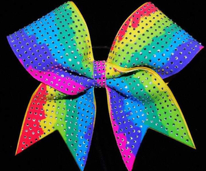 bow, cheer, and rainbow image