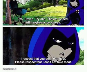 respect, teen titans, and raven image