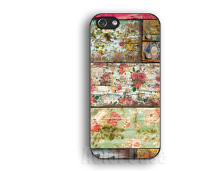 iphone 4s case, wood floral iphone 5 case, and wood floral iphone 4 case image