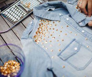 fashion, gold, and diy image