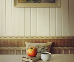 apple, coffee, and book image