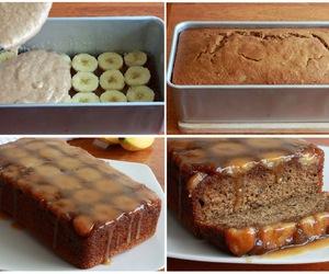 cake, banana, and diy image