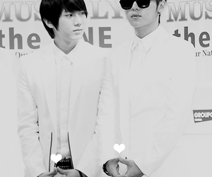couple, heart, and b2st image