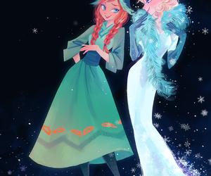 frozen, elsa, and elsanna image