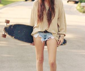 fashion, glasses, and skateboard image