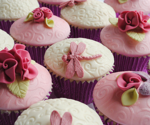 cupcakes, mother'sday, and flowers image