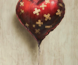 BANKSY, bruised, and heart image