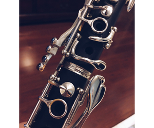 clarinet, music, and love image