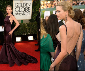 burgundy, golden globe awards 2013, and fishtail gown image