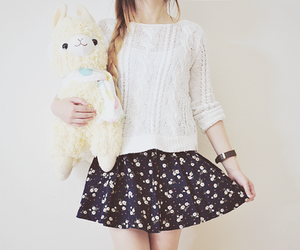 fashion, floral, and skirt image