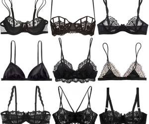 bra, black, and sexy image