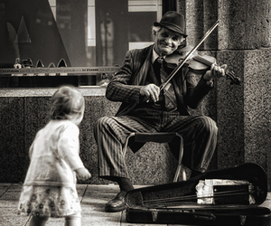 music, black and white, and violin image