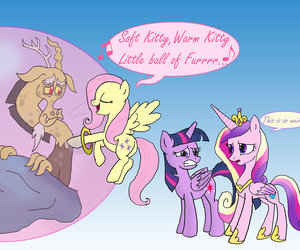 discord, fluttershy, and fluttercord image