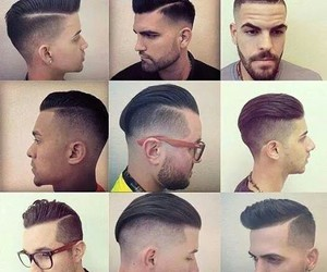 hair, hair style, and men image