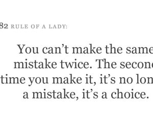 quote, choice, and mistake image