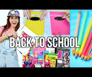 meg, school, and supplies image