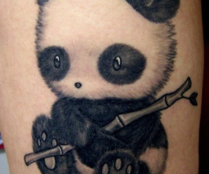 panda and tattoo image