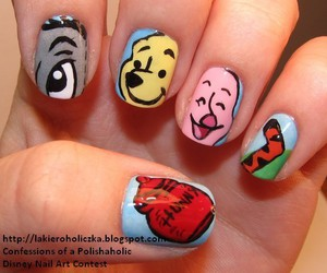 nails, disney, and winnie the pooh image