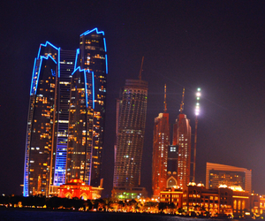 lights, Towers, and night image