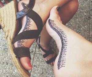 beach, foot, and tatouage image