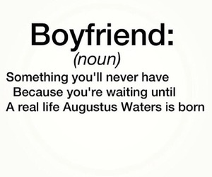 boyfriend, augustus waters, and the fault in our stars image