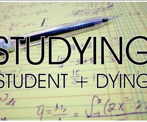 student, studying, and dying image