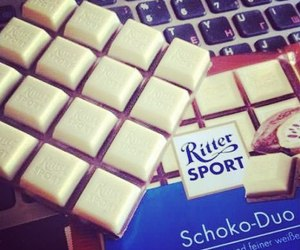 ritter sport, chocolate, and eat image