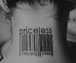 tattoo, priceless, and girl image