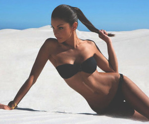 beach, ponytail, and skinny image