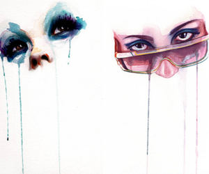eyes and watercolour image