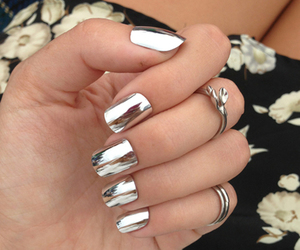 nail, nail art, and silver image