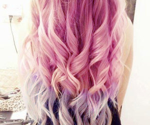 hair, pink, and blonde image