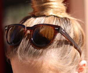 hair, sunglasses, and blonde image