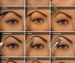 make up, tutorial, and eyebrows image