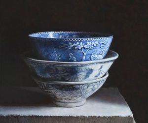 blue, bowl, and porcelain image