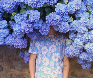 flowers, blue, and boy image