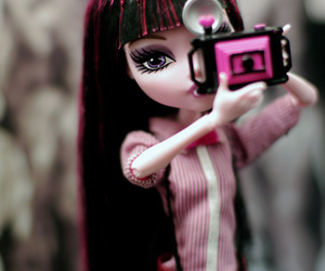 doll, draculaura, and monsterhigh image
