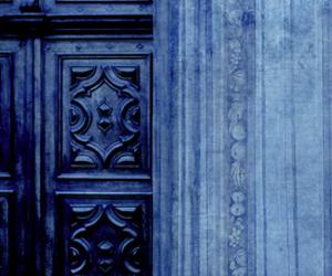 blue, door, and indigo image