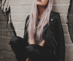 black, hair, and style image