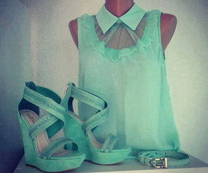 fashion, green, and shoes image