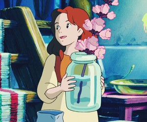 film, pinkflower, and studioghibli image