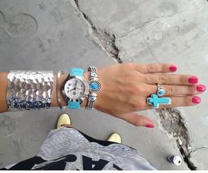 bracelet, nails, and style image
