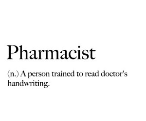 black and white, definition, and pharmacist image
