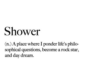 black and white, definition, and shower image
