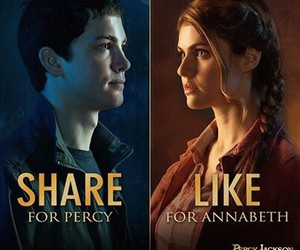 percy jackson, annabeth chase, and camp half blood image