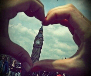 london, Big Ben, and heart image